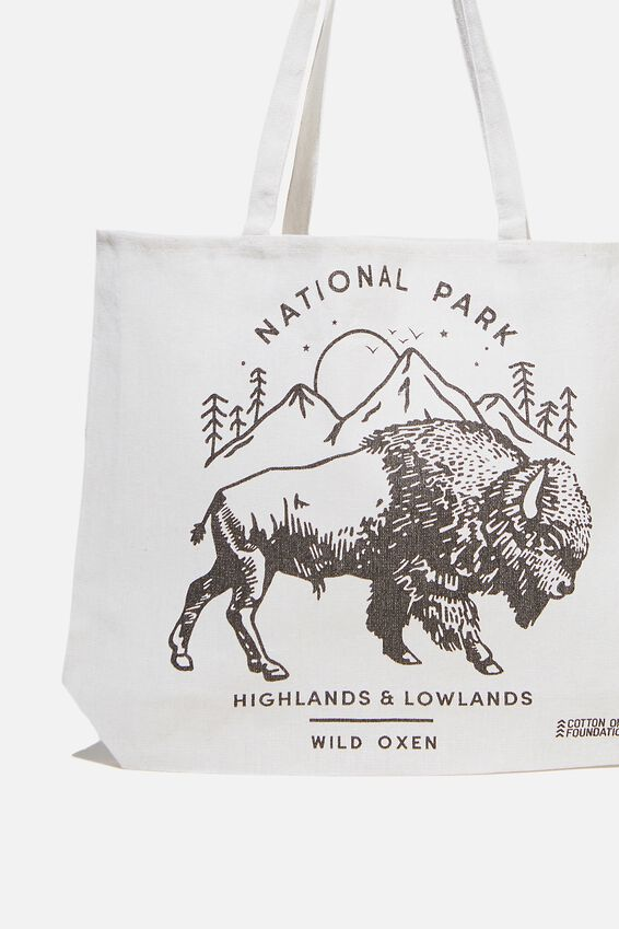 Typo Difference Tote Bag, OXEN NATIONAL PARK