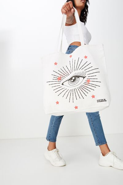 Typo Difference Tote Bag, STARRY EYED