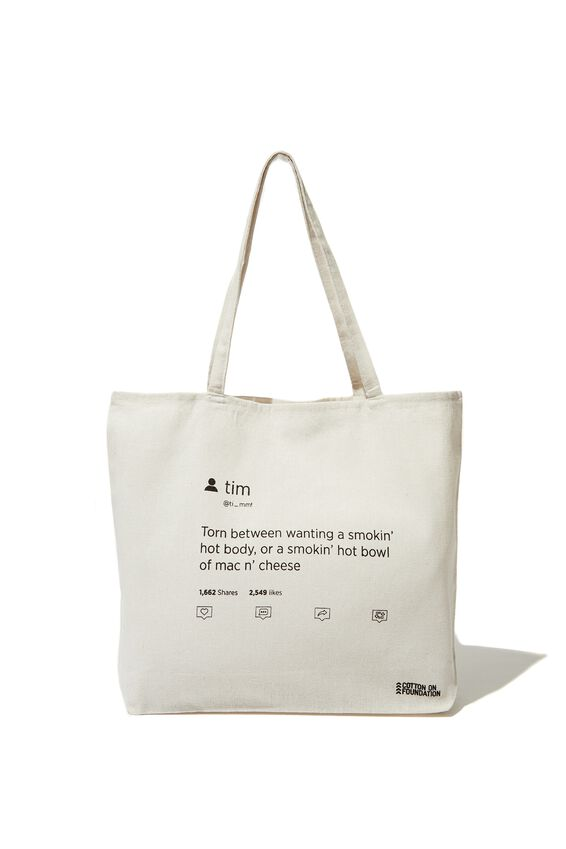 Typo Difference Tote Bag, MAC   CHEESE