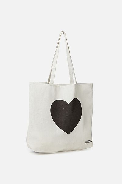 Typo Difference Tote Bag, LOVE HEART