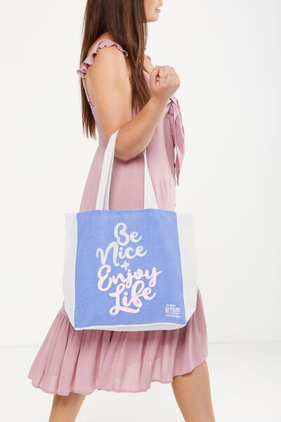 Typo Difference Tote Bag, BE NICE