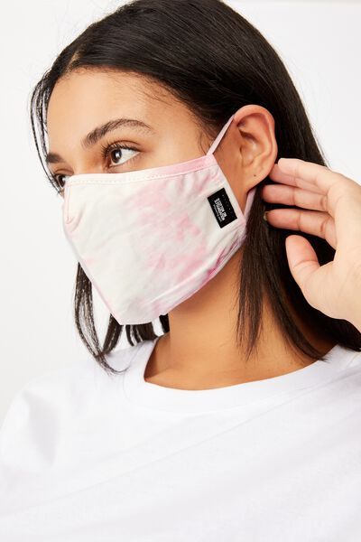 Foundation Face Mask Adults, PINK TIE DYE