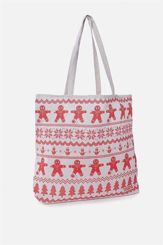 Christmas Tote, GINGERBREAD SWEATER