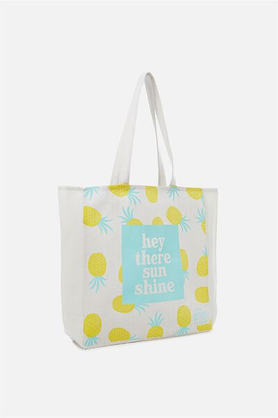 Typo Difference Tote Bag, HEY THERE SUNSHINE