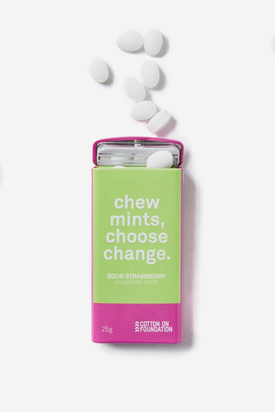 The 100% Difference Mints, ROSE/ SOUR STRAWBERRY