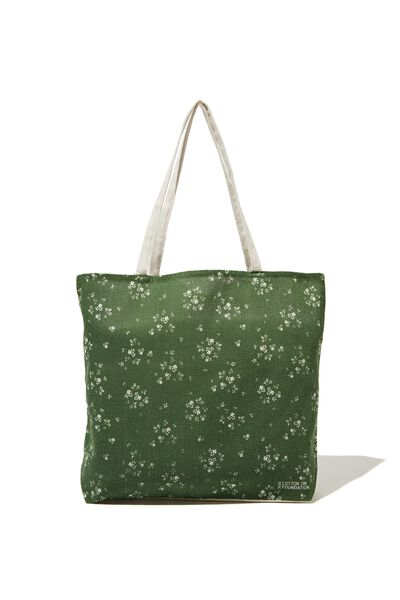 Typo Difference Tote Bag, BASIL DITSY
