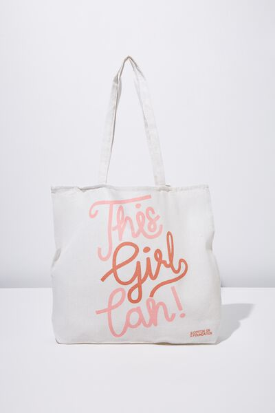 Typo Difference Tote Bag, THIS GIRL CAN