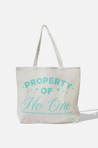 Typo Difference Tote Bag, PROPERTY OF NO ONE