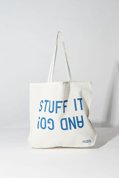 Typo Difference Tote Bag, STUFF IT