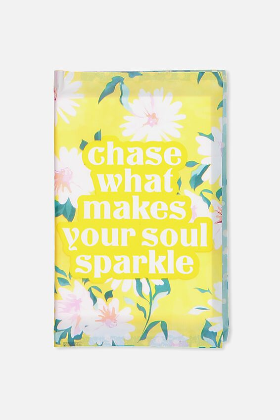Typo Difference Tissues, YELLOW FLORAL