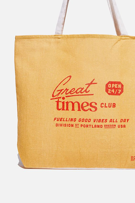 Typo Difference Tote Bag, GREAT TIMES CLUB