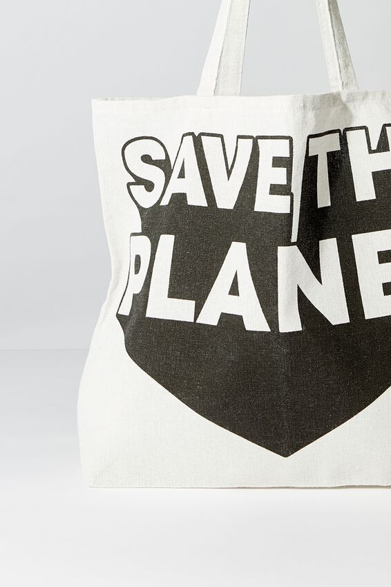 Typo Difference Tote Bag, SAVE THE PLANET