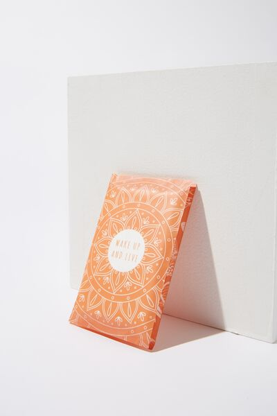 Typo Difference Tissues, WAKE UP AND LIVE
