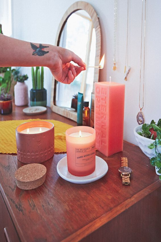Pillar Block Candle, ETERNAL OPTIMIST PEACH
