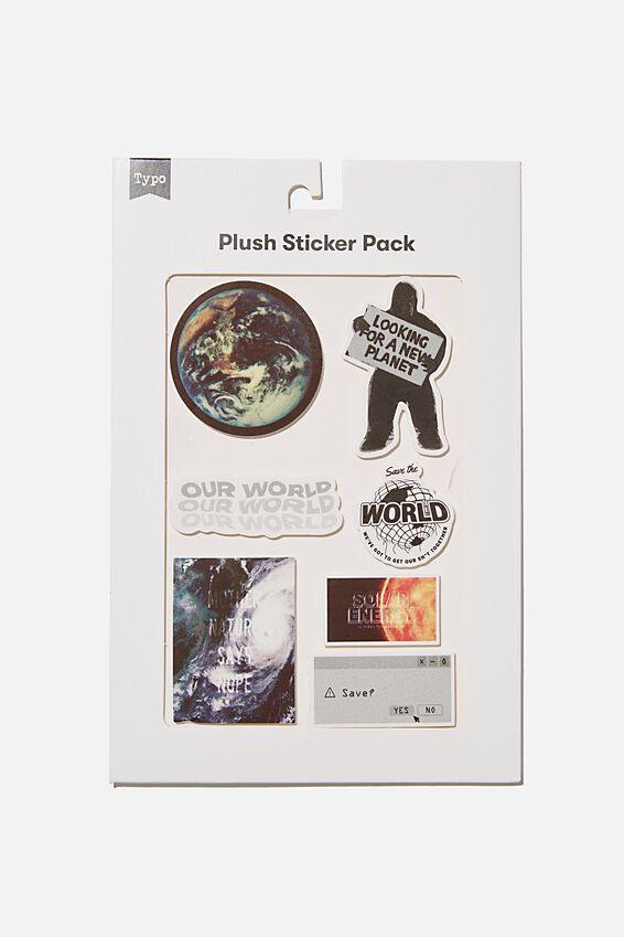 Plush Sticker Pack, PLANET EARTH