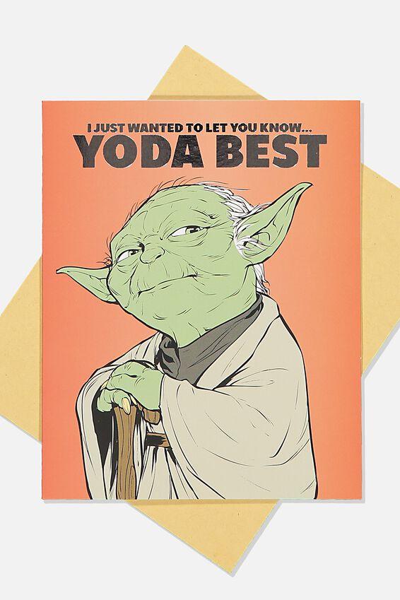 Star Wars Love Card, LCN LU STR YODA BEST RED