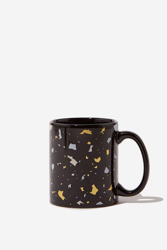 Anytime Mug, BLACK TERRAZZO