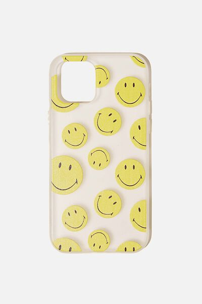 Snap On Protective Phone Case Iphone 12, 12 Pro, LCN SMI SMILEY YDG