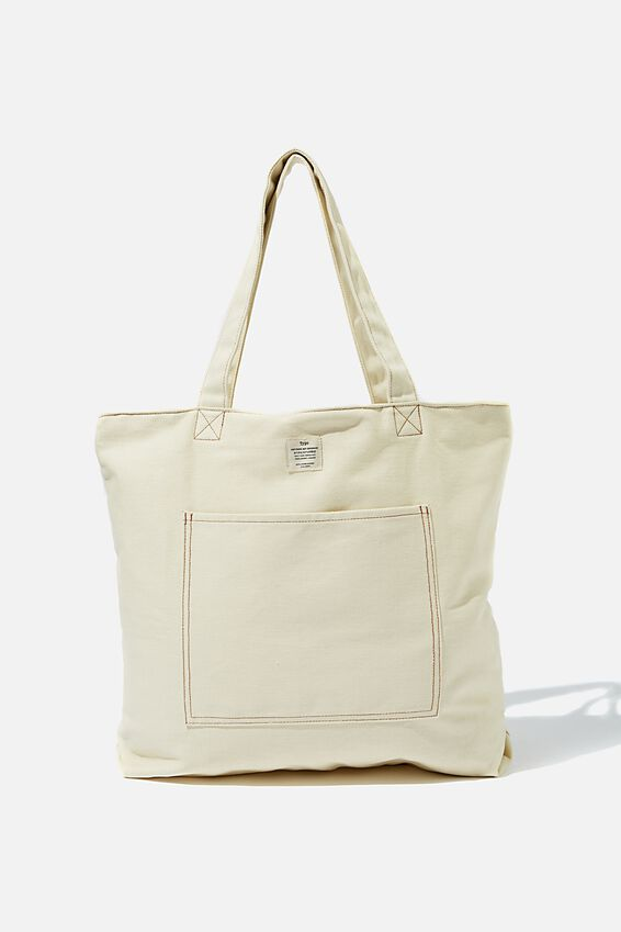 Oversized Tote, OFF WHITE