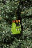 Resin Christmas Ornament, CAMPER BACKPACK