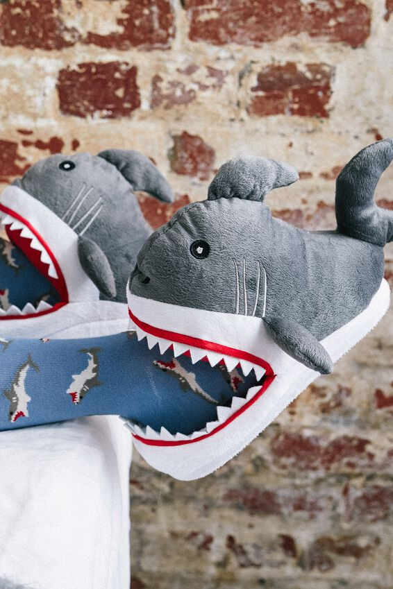 Novelty Slippers, SHARK