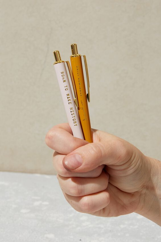 Foil Ballpoint Pen, BORN TO MAKE HISTORY