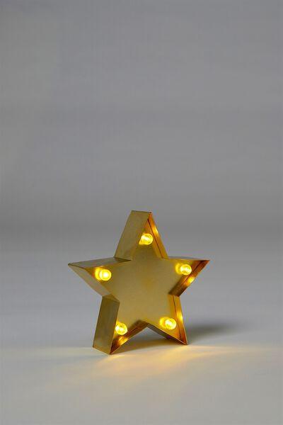 Shaped Mini Marquee Light, METALLIC GOLD STAR