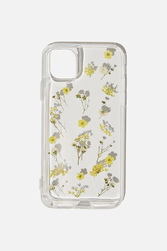 Protective Phone Case iPhone 11, TRAPPED MICRO FLOWERS
