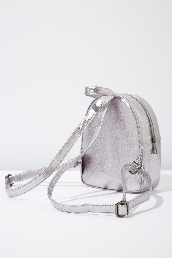 Mini Arch Backpack, GUNMETAL CHAIN