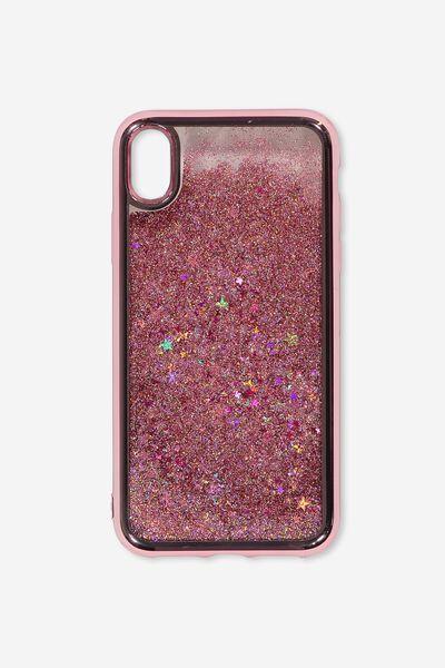 Shake It Phone Case Iphone Xr, ROSE GOLD GLITTER