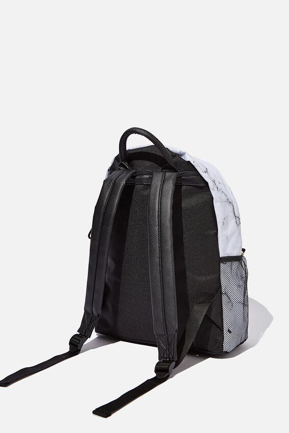 Fundamental Backpack, WHITE MARBLE