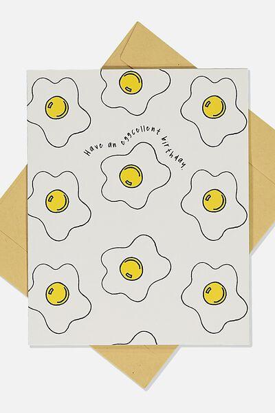Nice Birthday Card, EGGCELENT BIRTHDAY ICON