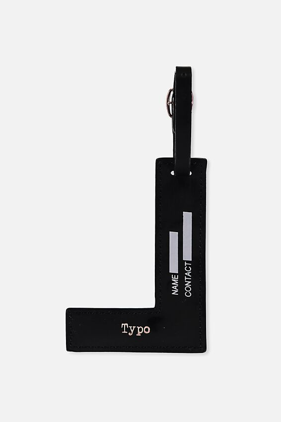 Shaped Alphabet Luggage Tag, L