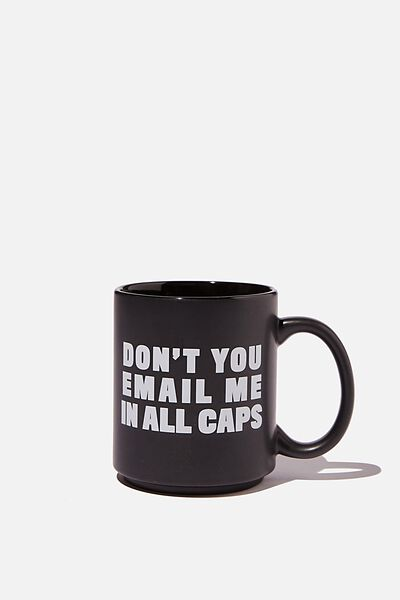 Daily Mug, EMAIL ALL CAPS