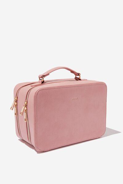 Premium Cosmetic Case, DUSTY ROSE QUEEN