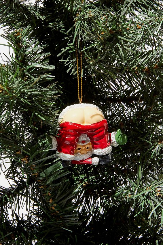Christmas Ornament, SANTA BUM LEGS!