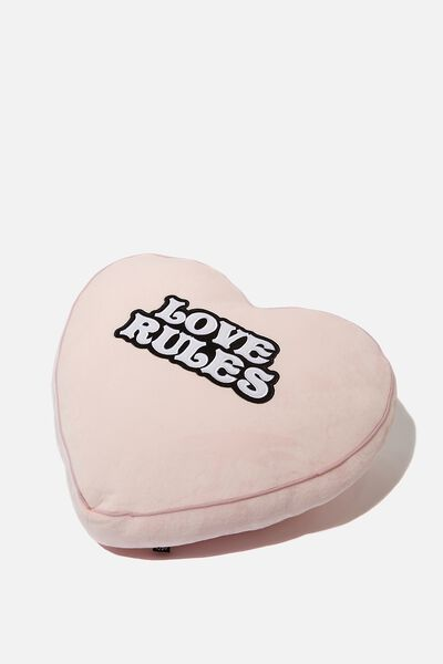 Get Cushy Cushion, LOVE RULES HEART