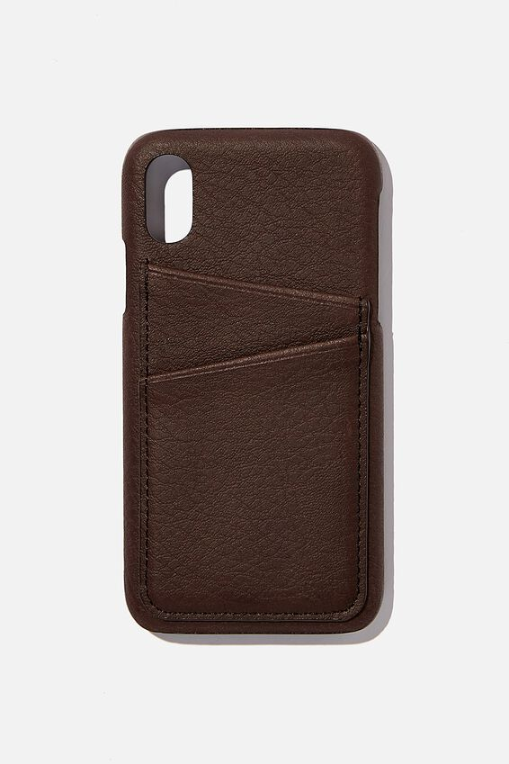 Cardholder Phone Case Iphone X,Xs, BITTER CHOC
