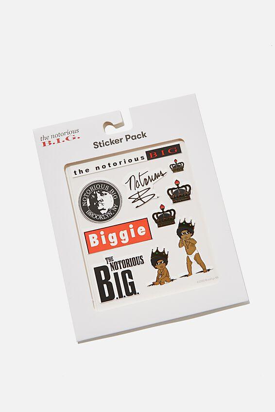 Biggie Smalls Sticker Pack, LCN MT BIGGIE SMALLS