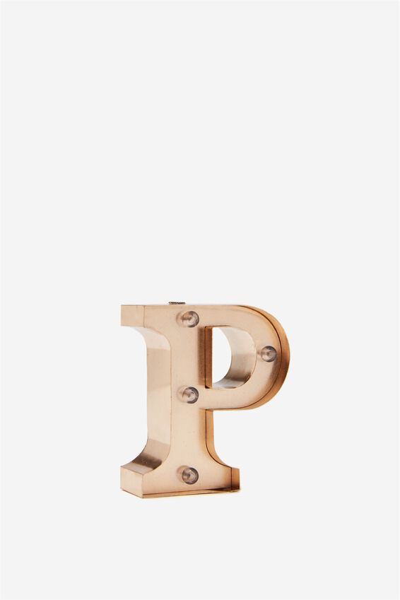 Mini Marquee Letter Lights 10cm, ROSE GOLD P