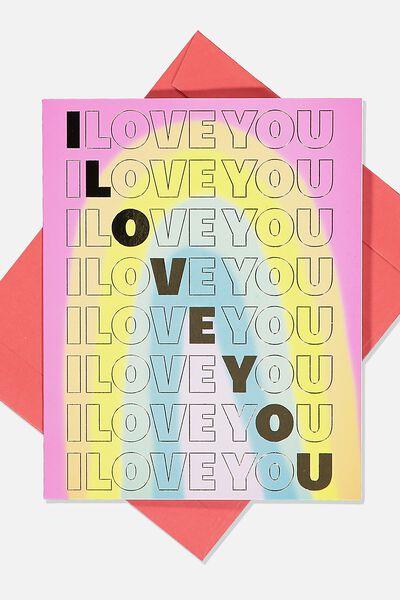 Love Card, RAINBOW I LOVE YOU