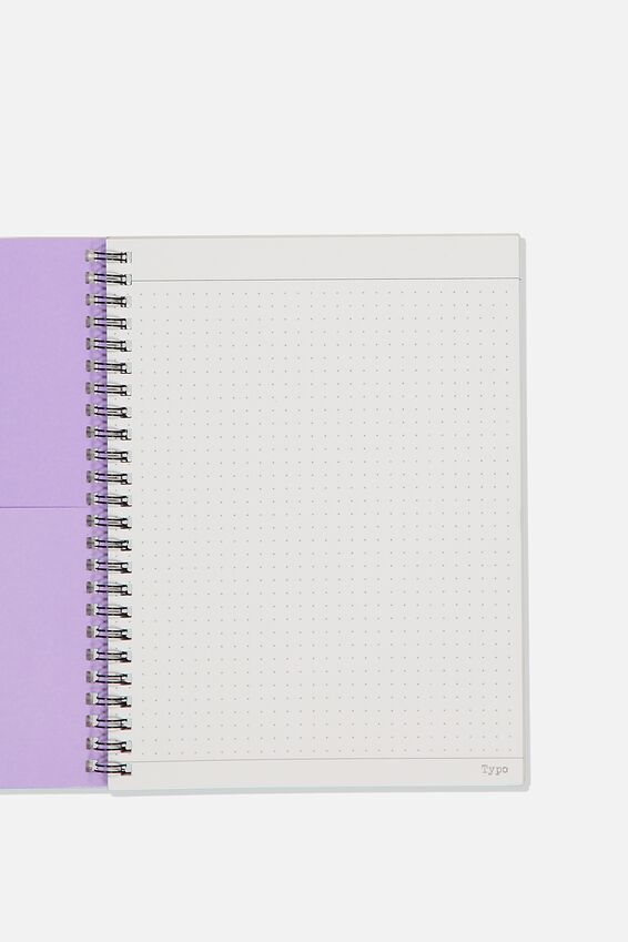 A5 Spinout Notebook Dot Page, GET LOST
