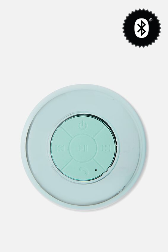 Waterproof Bluetooth Shower Speaker, SHINY BLUE