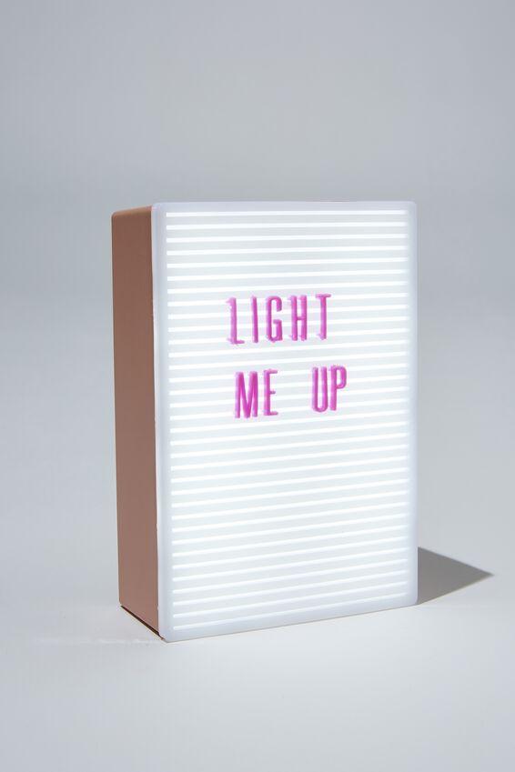 Micro Light Box, NUDE & WILD LILAC PEGBOARD