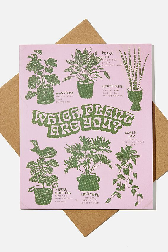 Blank Card, WHICH PLANT ARE YOU ILLUSTRATION