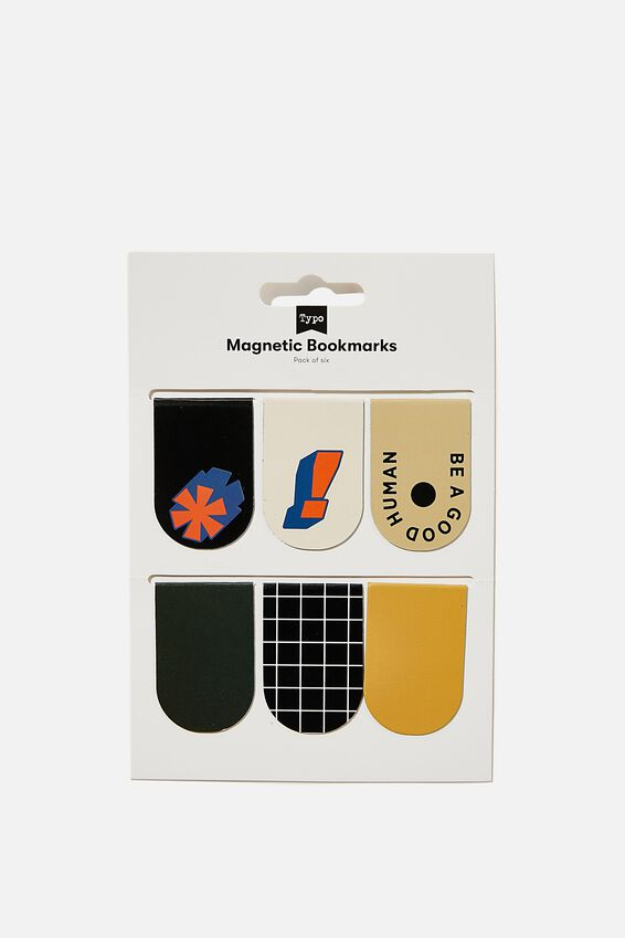 6Pk Magnetic Bookmark, BE A GOOD HUMAN