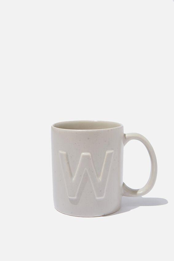 Alphabet Anytime Mug, SPECKLED W