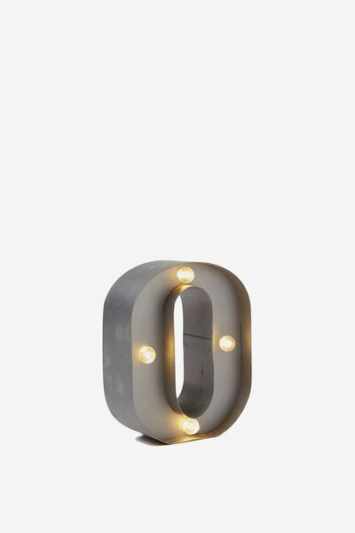 Mini Marquee Letter Lights 10cm, SILVER O