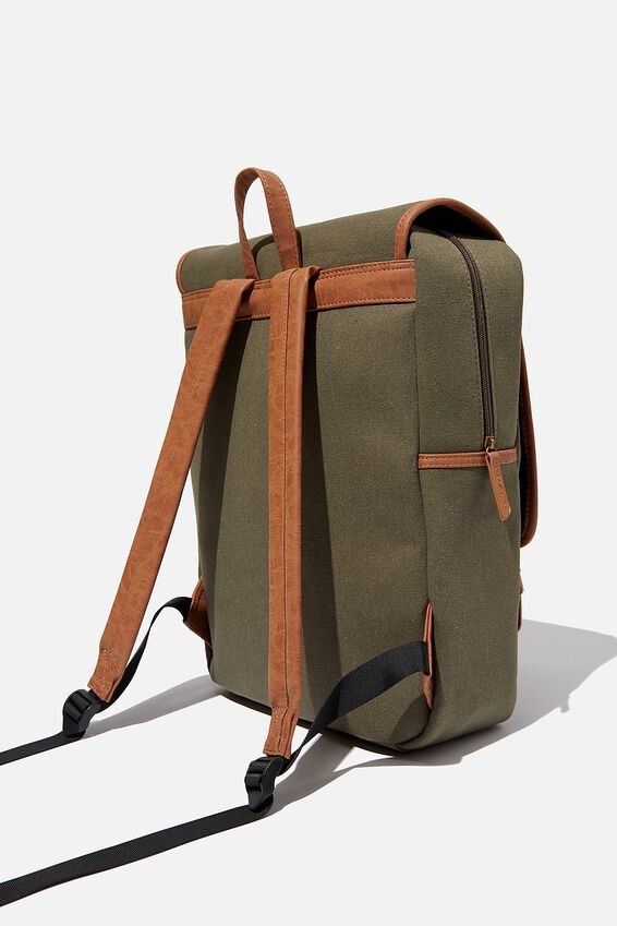 Heritage Backpack, WASHED KHAKI W MID TAN
