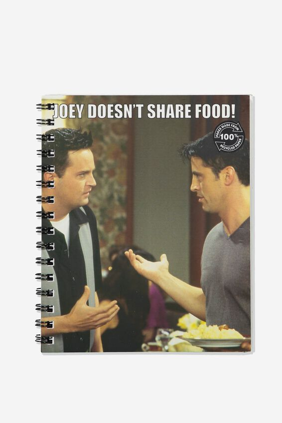 A5 Friends Campus Notebook Recycled, LCN WB FRIENDS JOEY DOESNT SHARE